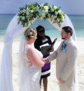 beach wedding at Orange Hill
