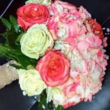 Coral hydrangea bouquet